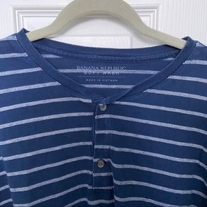 Banana Republic Shirts - Blue and white striped t-shirt